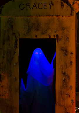 Gracey our resident ghost at spookystreet.com